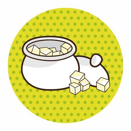 sweetener: Sugar cubes theme elements vector,eps