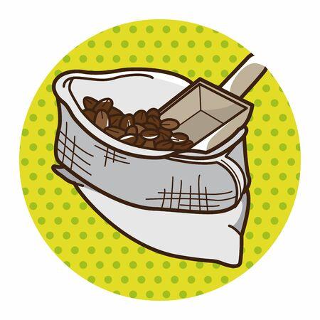 coffee crop: bag of coffee bean theme elements vector, eps