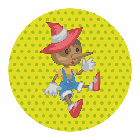 laying little: Pinocchio theme elements