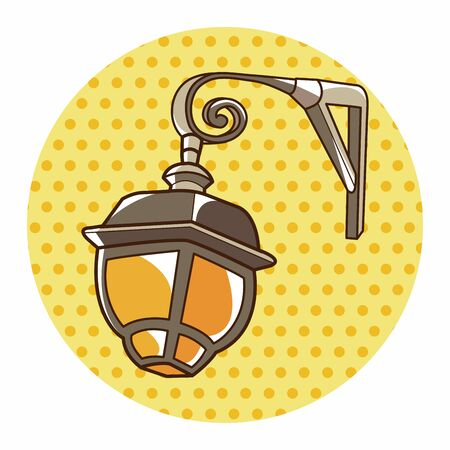 street lamp theme elements vector,eps Illustration