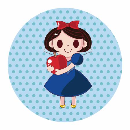 snow white: fairytale princess theme elements Illustration