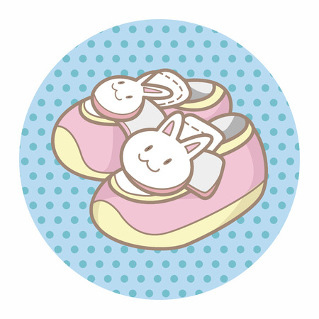 baby shoes: baby shoes style theme elements Illustration