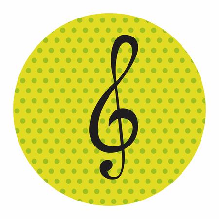 notas musicales: nota de la m�sica elementos del tema, eps Vectores
