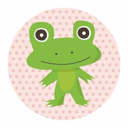 zoo amphibian: animal frog cartoon theme elements