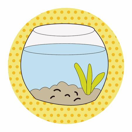 gold fish bowl: Pet goldfish bowl theme element vector,eps10
