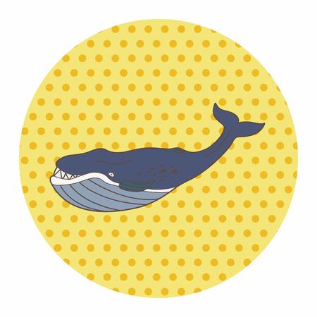 sea animal: sea animal whale cartoon theme elements