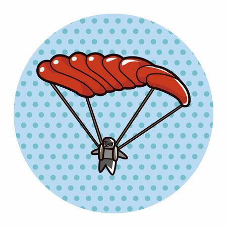 hang gliding: Hang gliding theme element