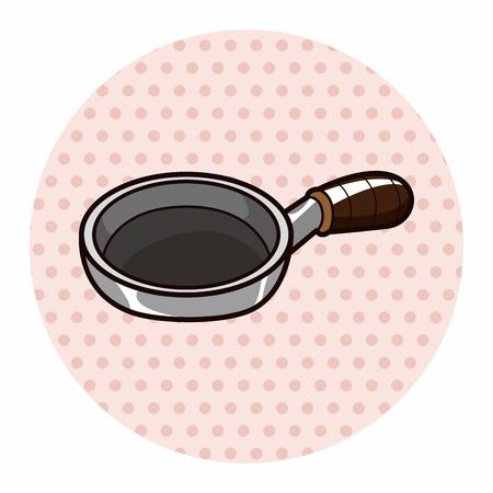 Kitchenware pan theme elements