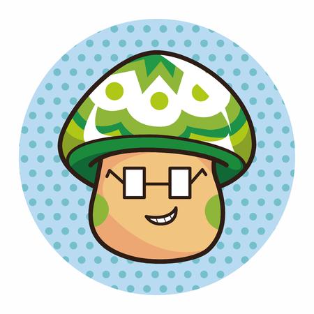 pilz cartoon: Pilz-Cartoon Thema Element