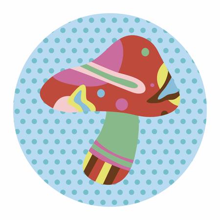 pilz cartoon: mushroom cartoon theme element