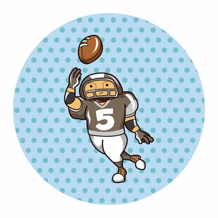 touchdown: football player theme element