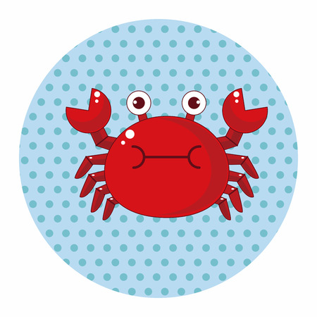 crab cartoon: crab cartoon theme elements