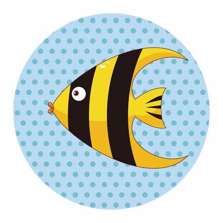 peces caricatura: Elementos del tema de dibujos animados de pescado