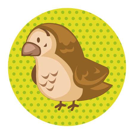 sparrow: animal sparrow cartoon theme elements