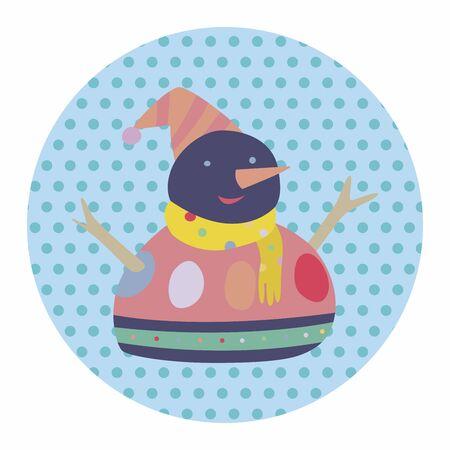 snowman cartoon: snowman cartoon element