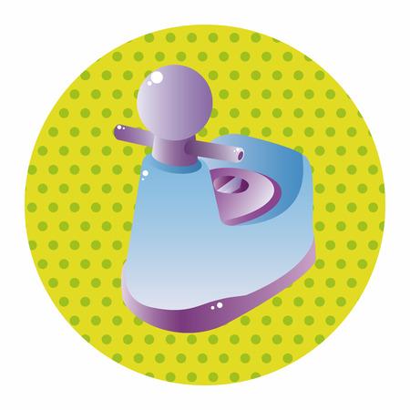potty: baby potty theme elements