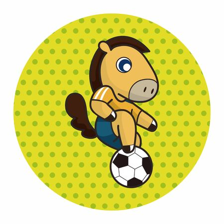 football play: Animal play football cartoon theme elements