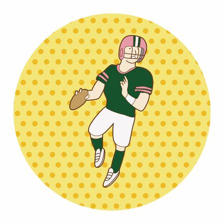 quarterback: football player theme element