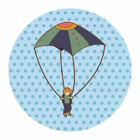 paragliding: Hang gliding theme elements Illustration