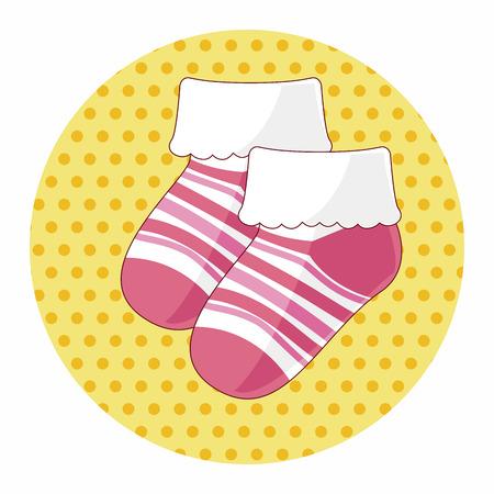 bébé chaussettes éléments thématiques Vecteurs