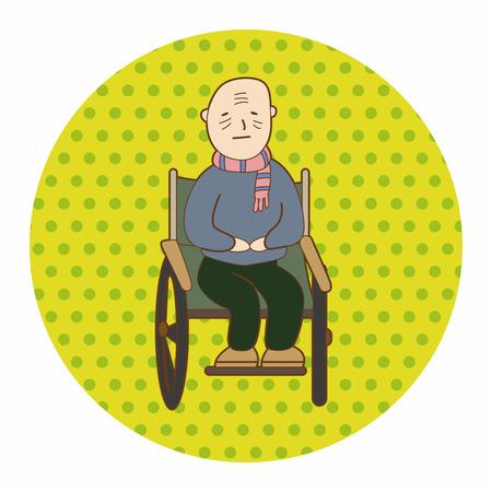 hospital patient: hospital theme patient elements Illustration