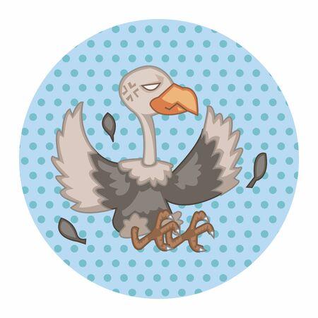 condor: bird condor cartoon theme elements