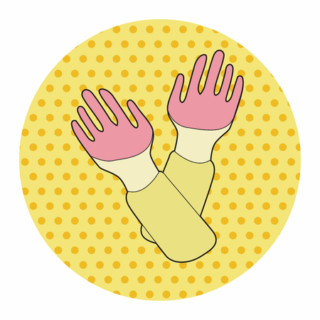 work tool: work tool glove theme elements vector,eps Illustration