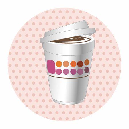 takeaway: takeaway coffee theme elements vector,eps