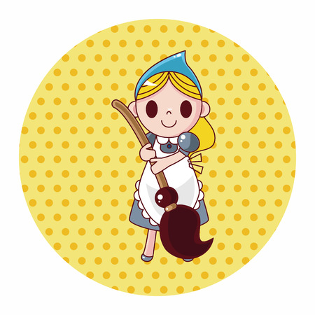 cinderella dress: fairytale princess theme elements Illustration