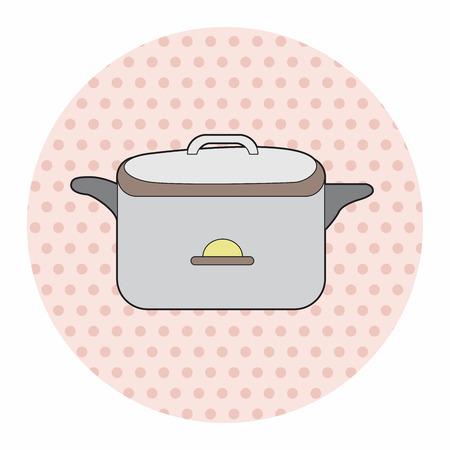 rice cooker: utensilios de cocina olla arrocera elementos tem�ticos, eps