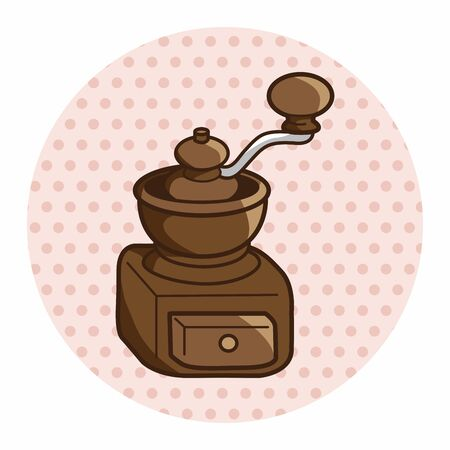grinding: grinding coffee machine theme elements vector,eps Illustration