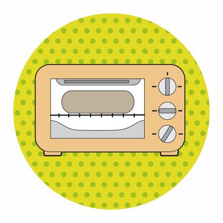 roaster: kitchenware oven theme elements vector,eps Illustration