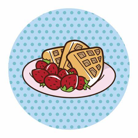 pancake: pancake theme elements vector,eps Illustration