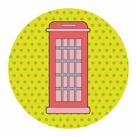red telephone box: Telephone booth theme elements vector,eps Illustration