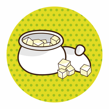 sugar cube: Sugar cubes theme elements vector,eps
