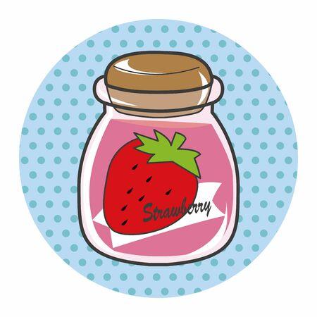 strawberry jam: strawberry jam theme elements vector,eps