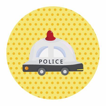 politieauto: vervoer politieauto thema elementen vector, eps Stock Illustratie