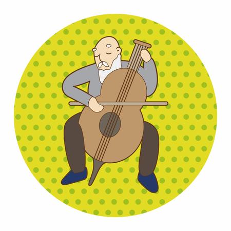 instrumentalist: Musicians theme elements vector,eps Illustration