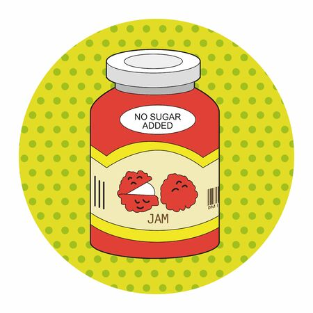 fruit jam: fruit jam theme elements vector,eps Illustration