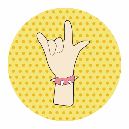 hand gesture: rock music hand gesture theme elements vector,eps