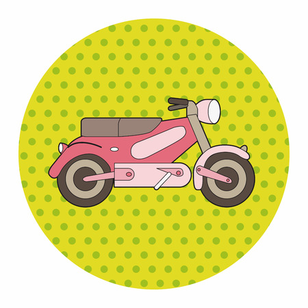 vespa: transportation motor theme elements vector, eps