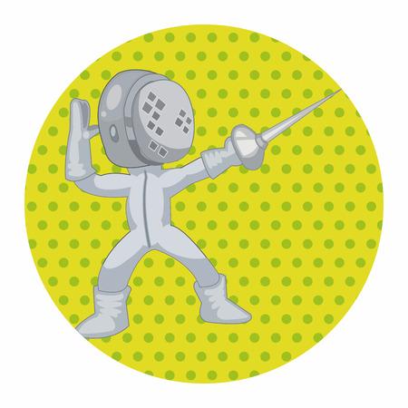 fencing sword: fencing theme elements