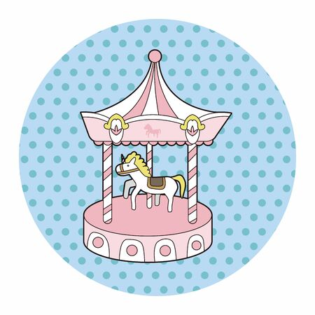 merry-go-round theme elements Illustration