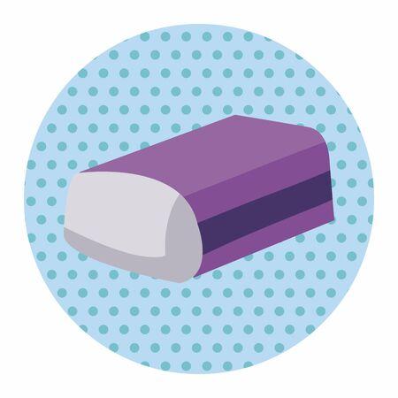 eraser: stationary eraser theme elements vector,eps Illustration