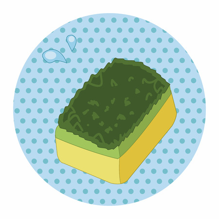 scouring: kitchenware scouring pad theme elements