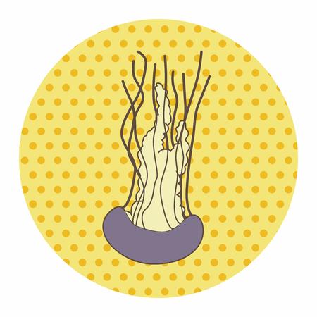 sea animal: sea animal coral cartoon theme elements Illustration