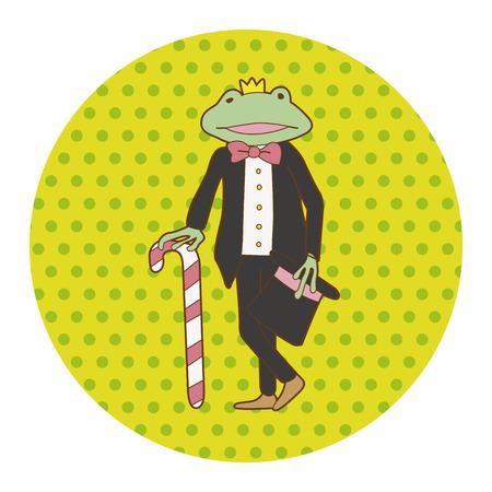 sapo principe: Elementos del tema de Príncipe de la rana Vectores