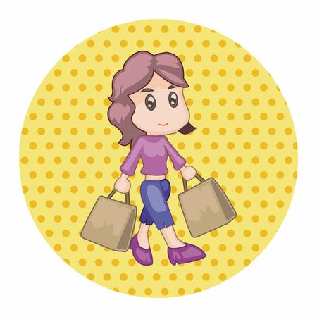 shopper: shopper theme elements vector
