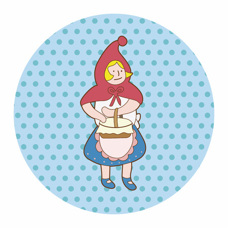 cartoon little red riding hood: fairytale princess theme elements Illustration
