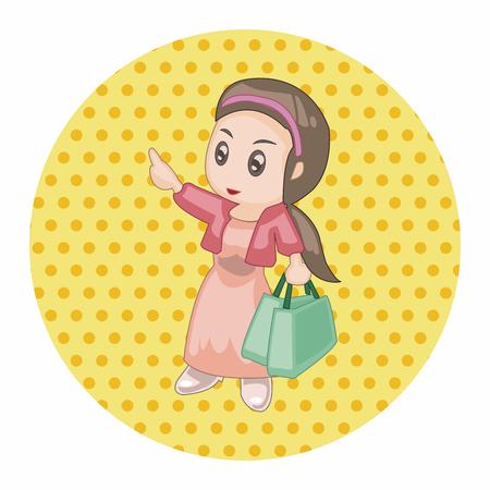 shopper: shopper theme elements vector, Illustration